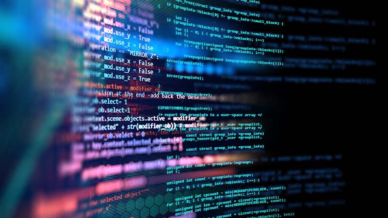 Programming code concept.