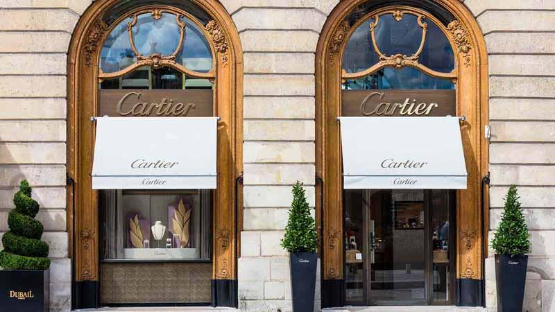 Cartier shop in Paris, France.