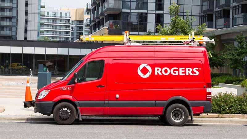A Rogers van in Toronto, Canada.