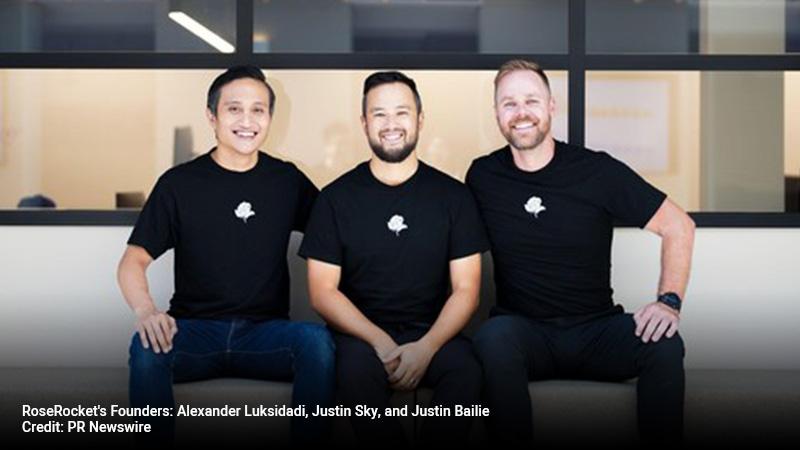 RoseRocket's Founders: Alexander Luksidadi, Justin Sky, and Justin Bailie.