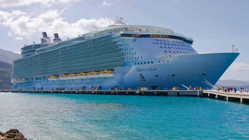 Royal Caribbean, Oasis of the Seas cruise ship.