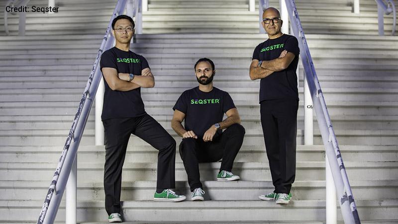Seqster co-founders: Dr. Xiang Li, Ardy Arianpour, and Dana Hosseini.