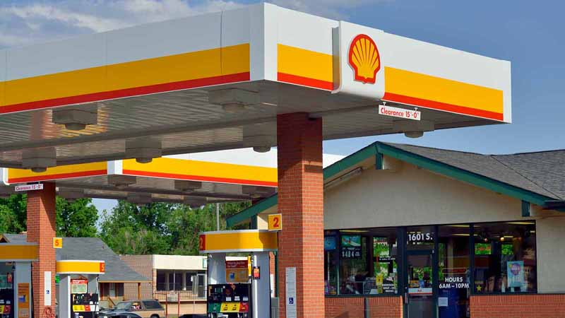 A Shell gas station.