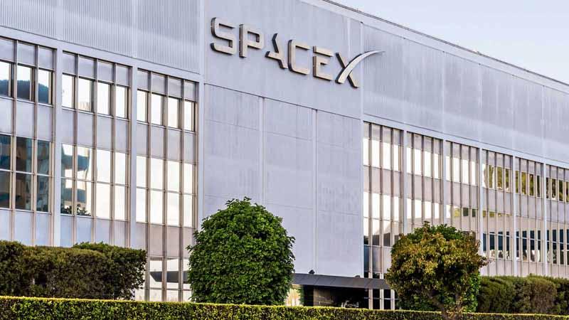 SpaceX headquarters in California.