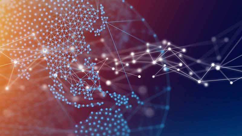Global network digital concept.