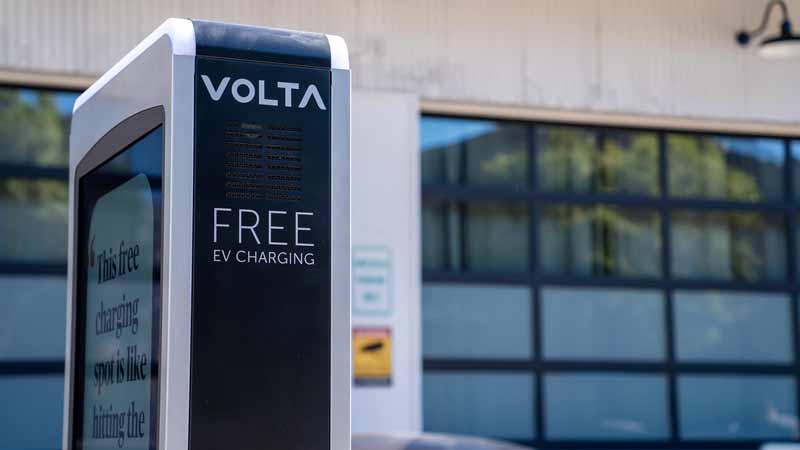 A Volta car charging station.