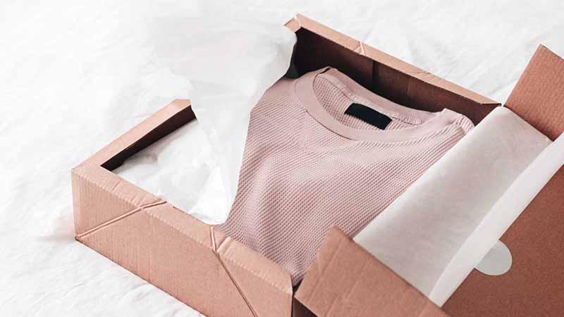 A box of clothes.