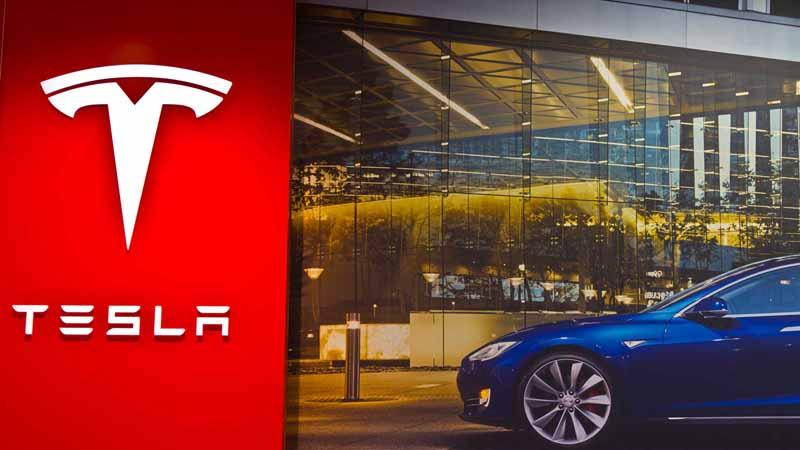 Tesla Motors storefront.