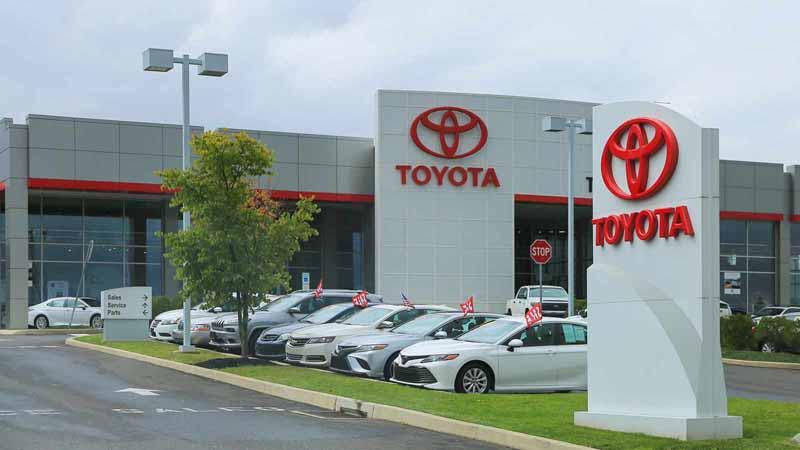 A Toyota dealership.
