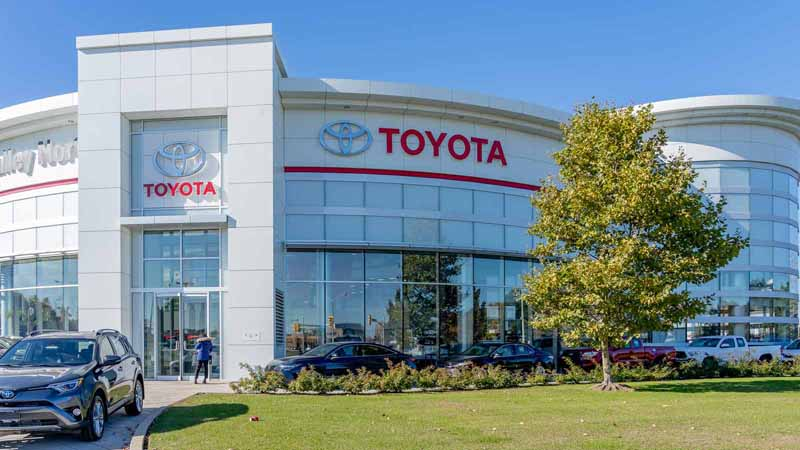 Toyota showroom in Ontario, Canada.