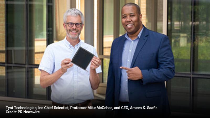 Tynt Technologies, Inc Chief Scientist, Professor Mike McGehee, and CEO, Ameen K. Saafir.