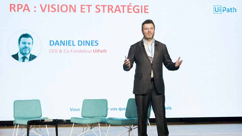 Daniel Dines, co-founder and CEO of UiPath