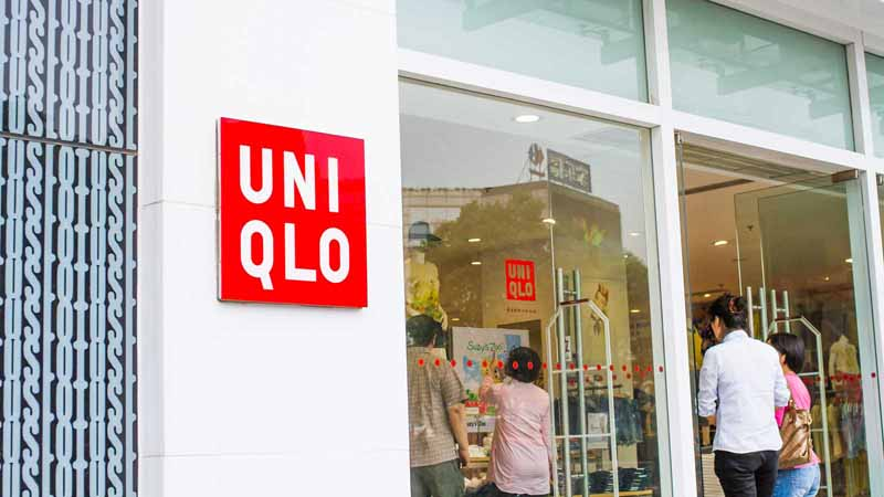 Uniqlo store in Shanghai, China.