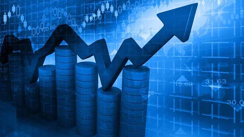 Digital stock graph.