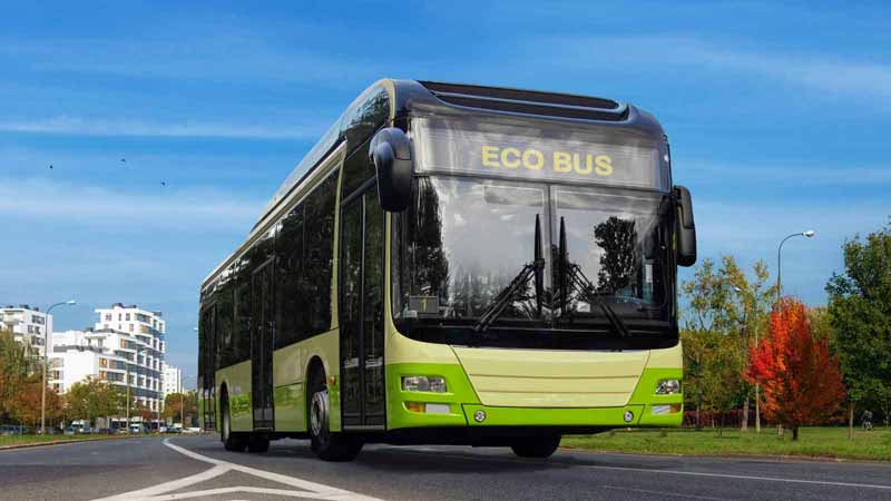 A rendering of an electric bus.