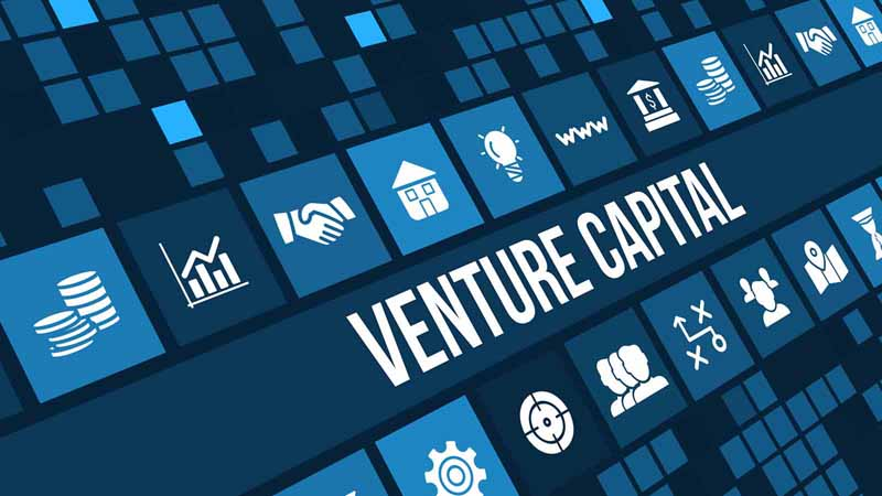 """Venture Capital"" written alongside various digital icons."