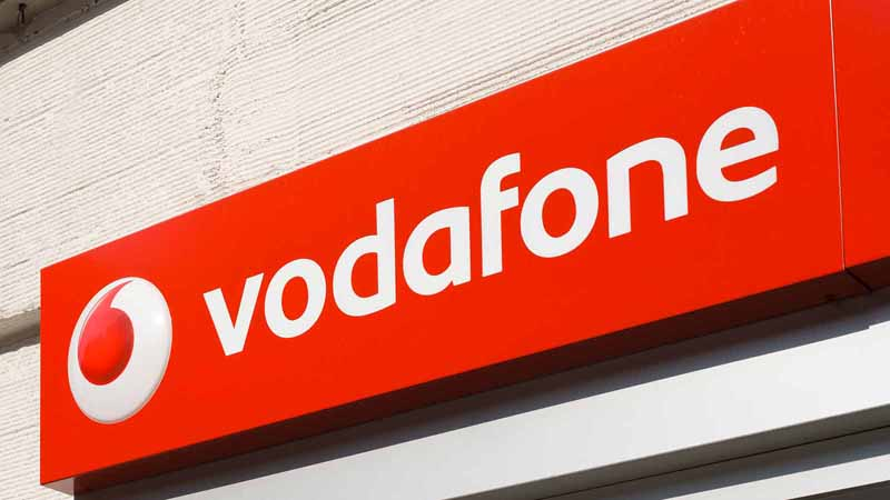 Vodafone sign.