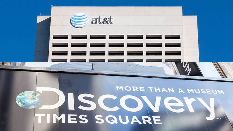 AT&T headquarters and the Discovery Times Square museum.