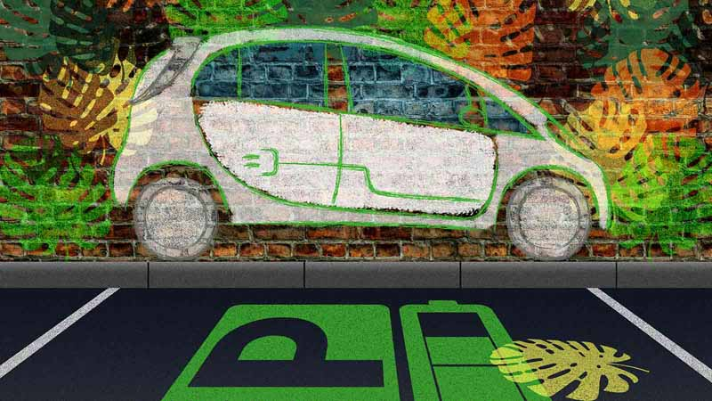 Concept art of wireless charging for electric vehicles.
