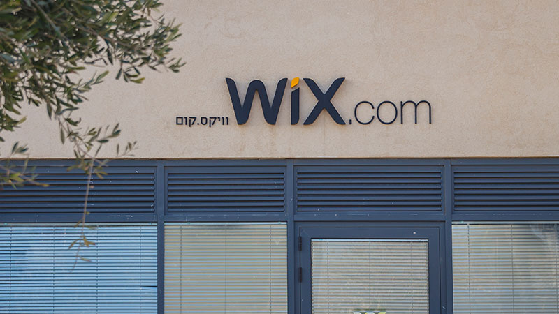 Building with Wix.com logo on it.
