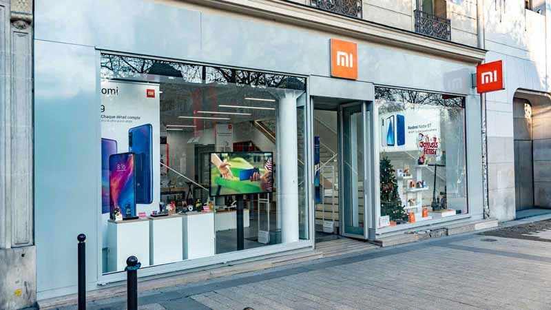 Xiaomi storefront in Paris, France.