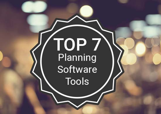 "An emblem with the words ""Top 7 Planning Software Tools."""