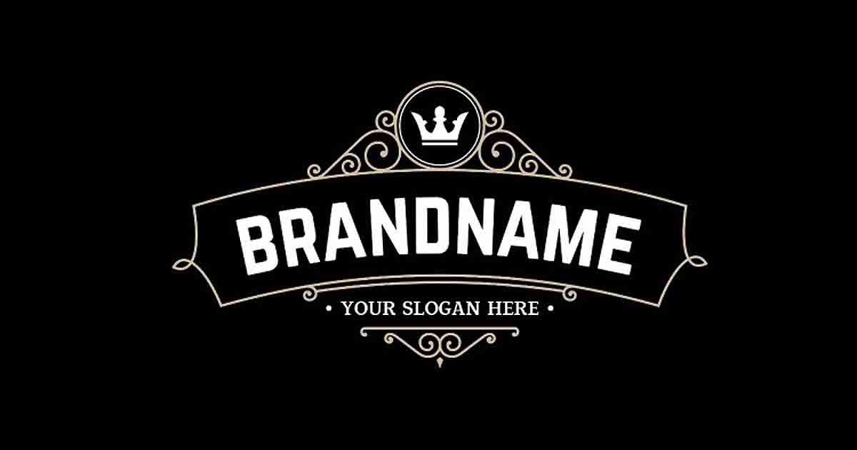 "An example logo with the words ""Brandname"" and ""Your Slogan Here"""