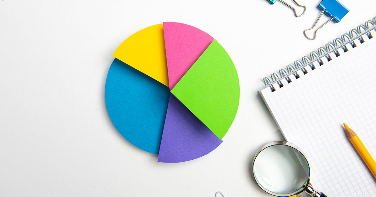 Colorful pie chart.