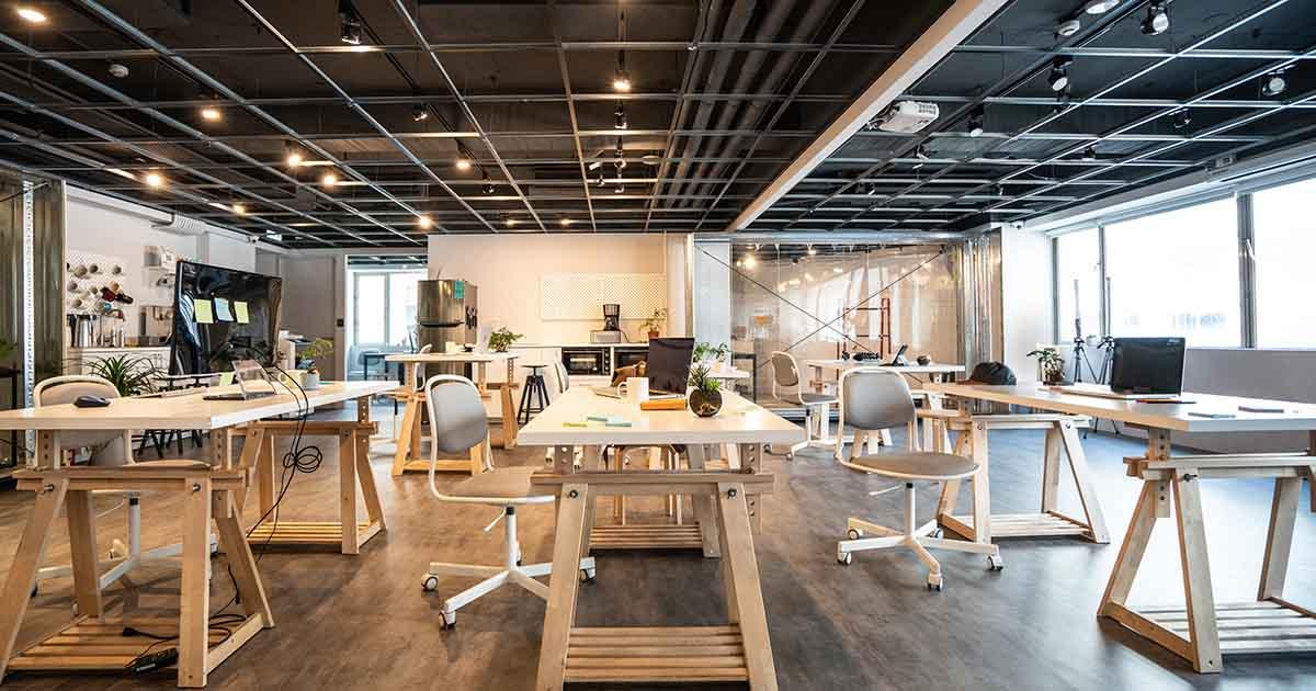 Startup office.