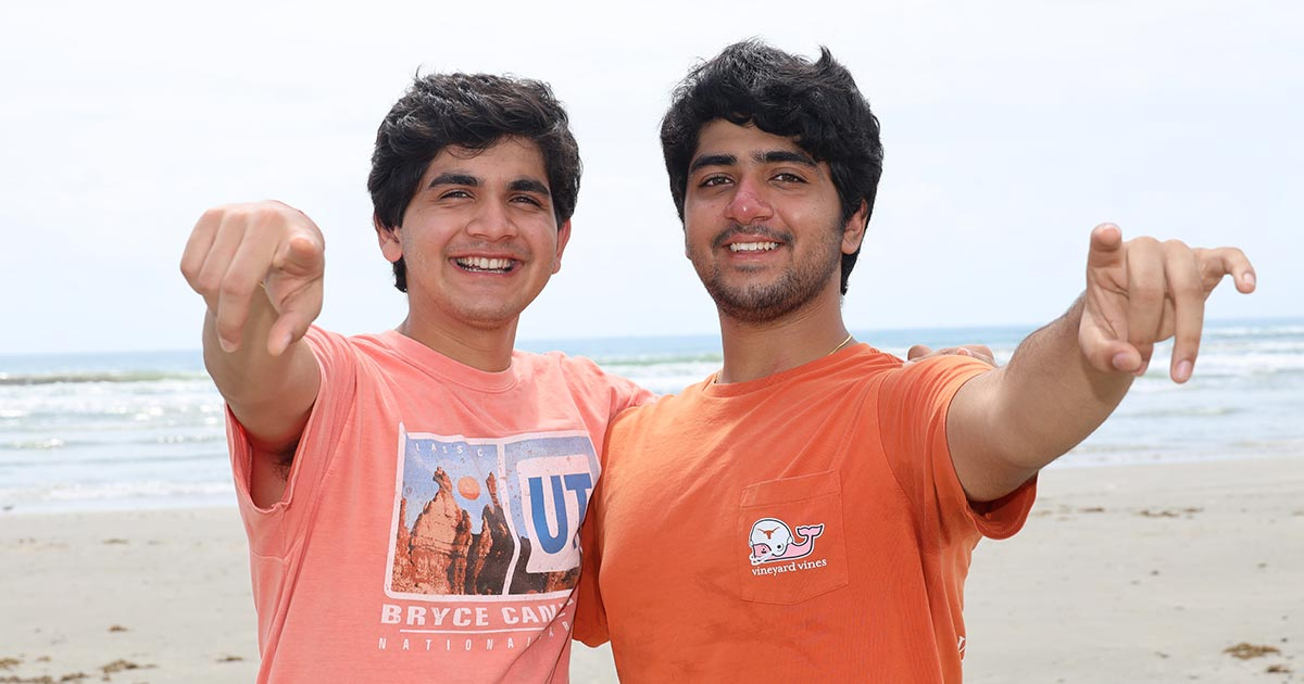 Sidharth and Rohit Srinivasan, co-founders of Trashbots, an edtech startup.