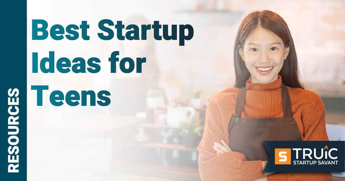 Teen business owner posing.