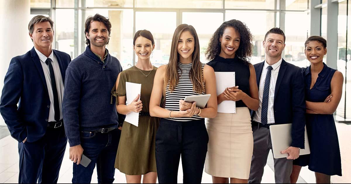 Group of startup entrepreneurs posing.