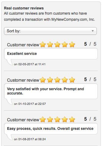 My New Company Customer Reviews