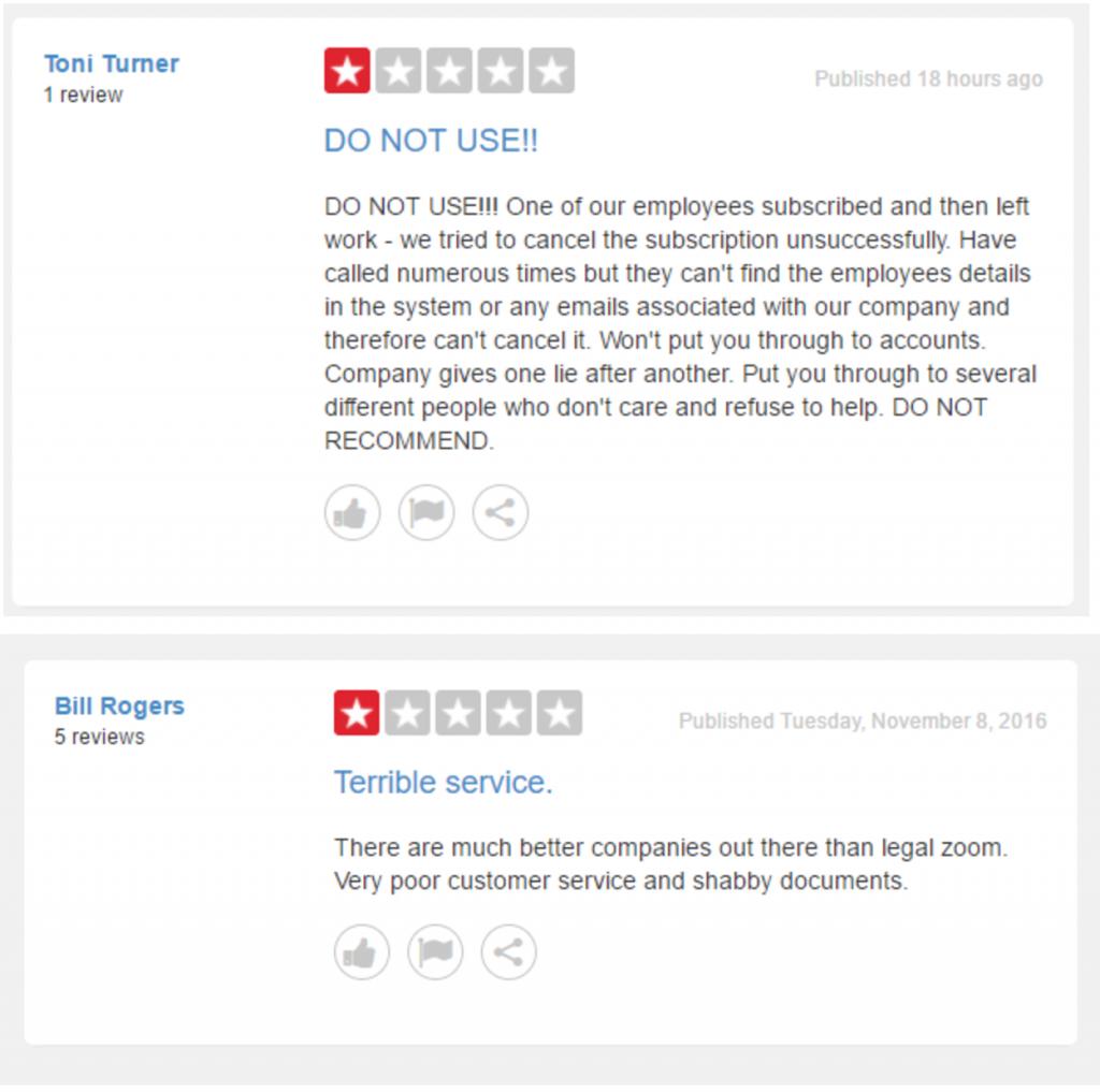 LegalZoom Customer Reviews