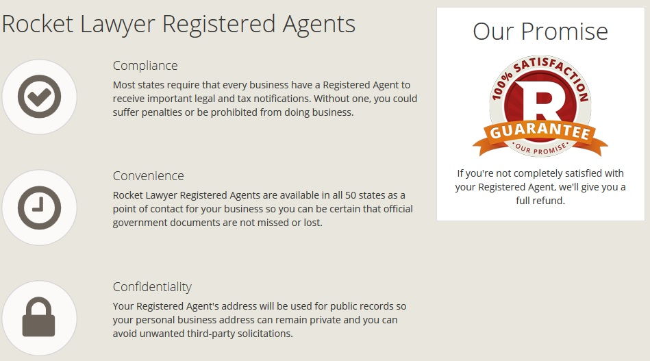 Rocket Lawyer Registered Agent Pricing