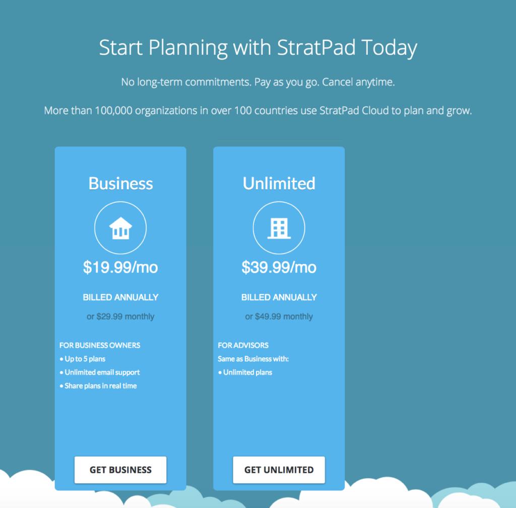 StratPad Pricing