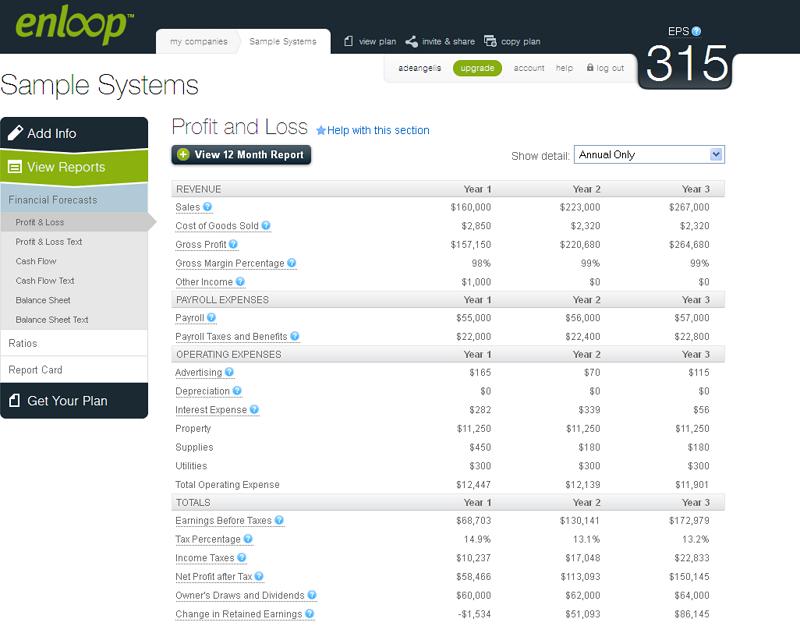 Enloop Financial Report