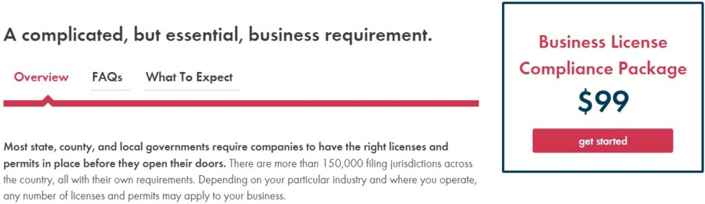 Incorporate Business License Service Pricing