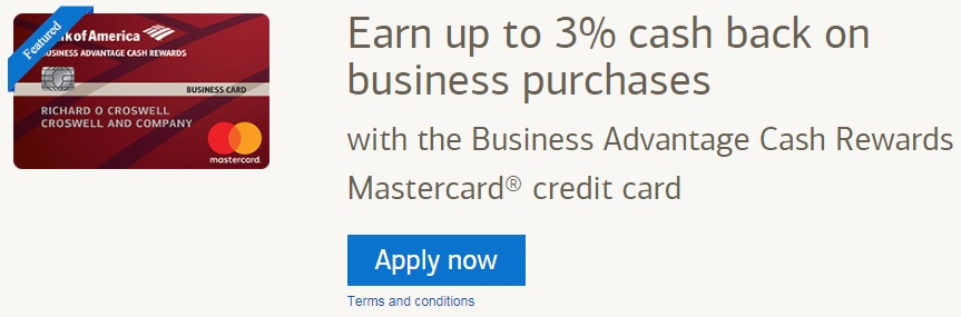 Bank of America Business Advantage Cash Rewards Credit Card Fees & Features